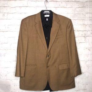 ⭐Jos A Bank Blazer Caramel Brown 100% Wool Size43R